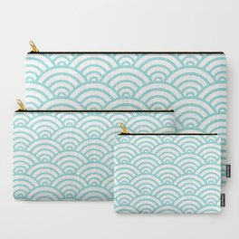 Tiffany Blue Scallop Pattern Carry-All Pouch