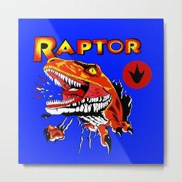 Raptor Dinosaur Ghost World Enid Shirt Digitally Re created Metal Print