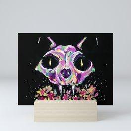 Cat skull Mini Art Print