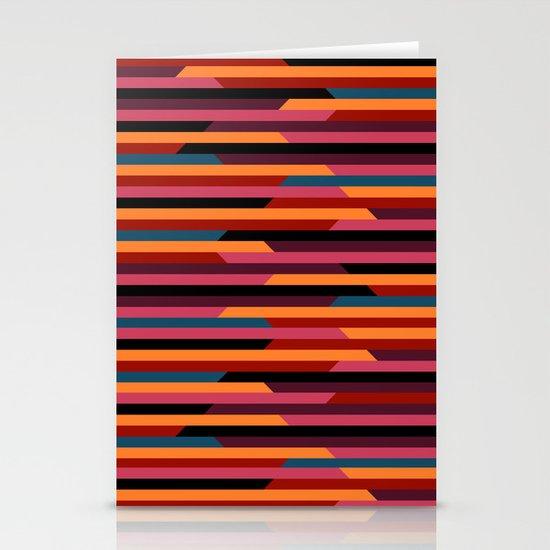 Geometric stripes Stationery Cards