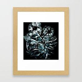 Flowers In Green Framed Art Print