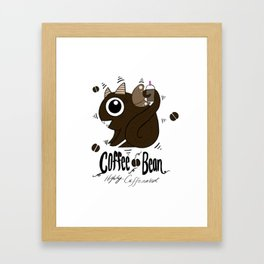 Coffee Bean Dragon Framed Art Print