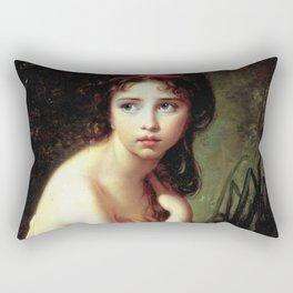 Louise Élisabeth Vigée Le Brun - Julie Le Brun as a Bather Rectangular Pillow