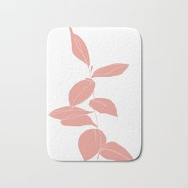 One line plant drawing - Berry Pink Bath Mat