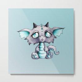 Baby Lavender Dragon Metal Print