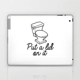 Put A Lid On It Burlap Print | Bathroom Laptop & iPad Skin