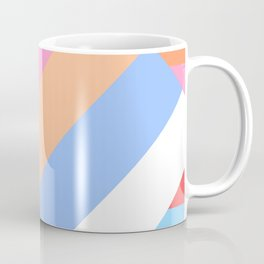 Matted Pastel Rainbow with White Coffee Mug