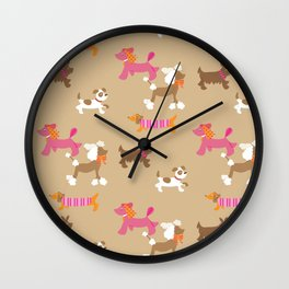 Walkies, Poodles, Sausage dogs and Terriers Wall Clock