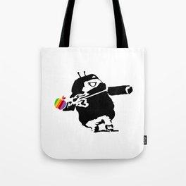 Banksy + Android = Bankdroid Tote Bag
