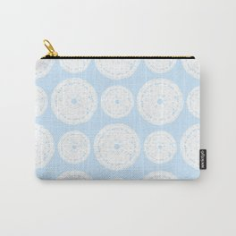White Doilies Pattern w/ Baby Blue Background (Style 1) Carry-All Pouch