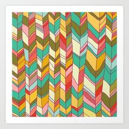 Knitted Pattern Art Print