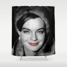 Romy Schneider Large Size Portrait Shower Curtain