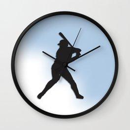 Batter Up Baseball Wall Clock