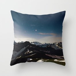 Night Nature (Color) Throw Pillow