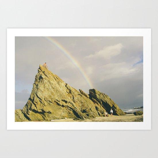 Chasing Rainbow Art Print