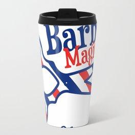 Barber Magic - red, white, blue Travel Mug
