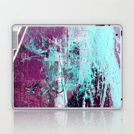 01012: a vibrant abstract piece in teal and ultraviolet Laptop & iPad Skin