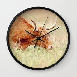 Long Horn Wall Clock