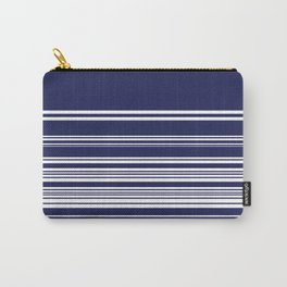 Navy stripes Carry-All Pouch
