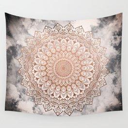 ROSE NIGHT MANDALA Wall Tapestry