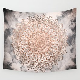 ROSE NIGHT MANDALA Wall Tapestry