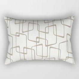 Reverse Medium Warm Gray Retro Geometric Pattern Rectangular Pillow