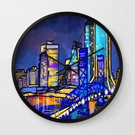 Dark Sky Cityscape Wall Clock