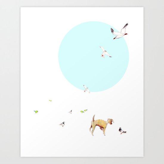 Animals of Barcelona Art Print