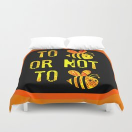 Bee Question Duvet Cover