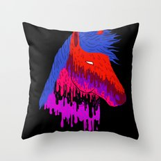 The Psychedelic Melt Throw Pillow