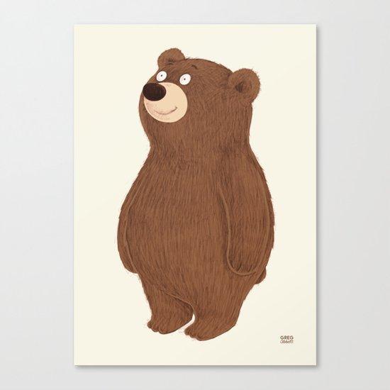 Simple Bear Canvas Print
