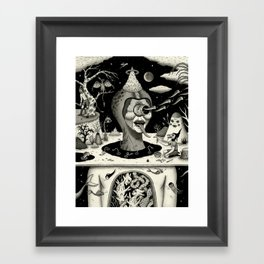 Imminent Disruption of a Nightly Ritual Framed Art Print