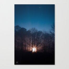 Moon Rays Canvas Print
