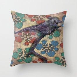 Weird bird Throw Pillow