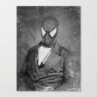 superheros Canvas Prints featuring Spidey Senior by Zach Terrell