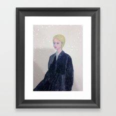 it's snowing in my mind. Framed Art Print
