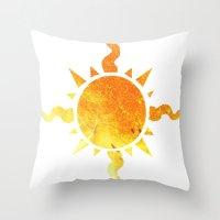 homestuck Throw Pillows featuring Light by Darkerin Drachen