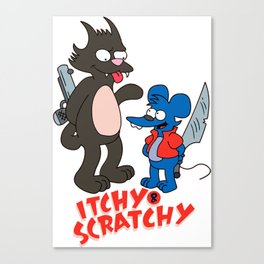 Itchy and Scratchy - Simpsons Canvas Print