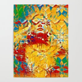 6759s-KMA The Woman in the Stained Glass Sensual Feminine Energy Emerging Poster