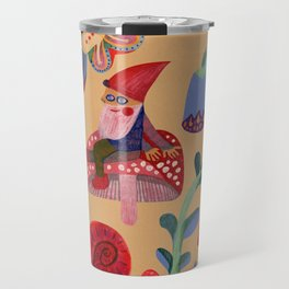 Gnome, snails and butterfies Travel Mug
