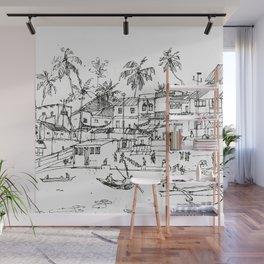 Minimal Line Settlement 10 Wall Mural