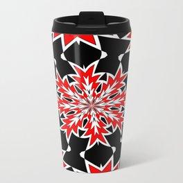 Bizarre Red Black and White Pattern 2 Travel Mug