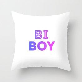 Bi Boy LGBT Equality Bisexual Pride Flag Colors Bi Pride Cool Humor Design Pun Gift Throw Pillow