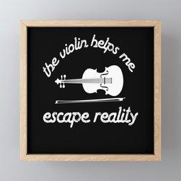 Violin Helps Me Violin Musicians Music Framed Mini Art Print
