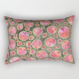 Big Red Circles Pattern Rectangular Pillow