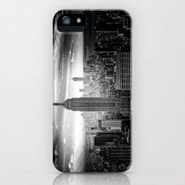 New york city black white 2 iPhone Case