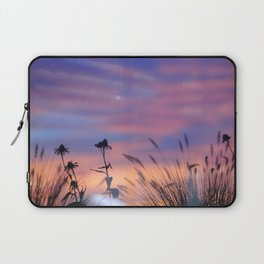 LOOK OUTSIDE - Flowers & Sunset #1 #art #society6 Laptop Sleeve