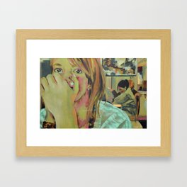 Eye Contact Framed Art Print
