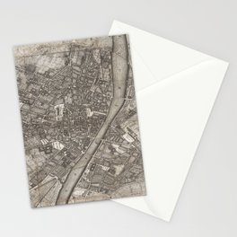 Vintage Map of Florence Italy (1847) Stationery Cards