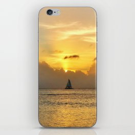 Sailing away to infinity. iPhone Skin